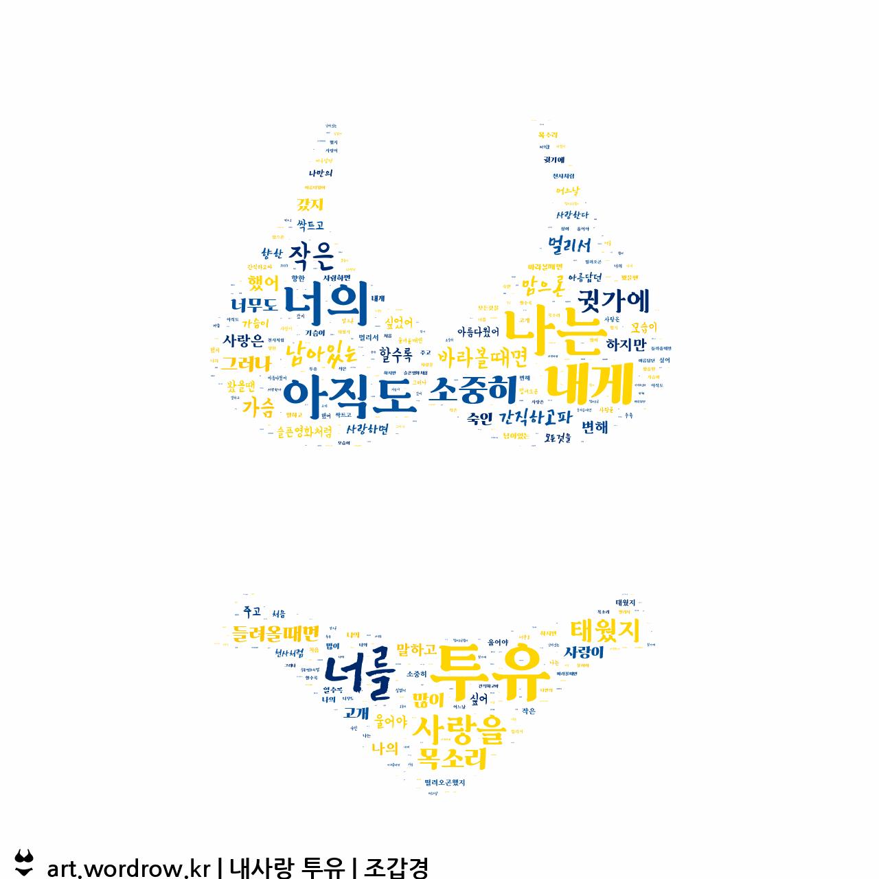 워드 클라우드: 내사랑 투유 [조갑경]-2